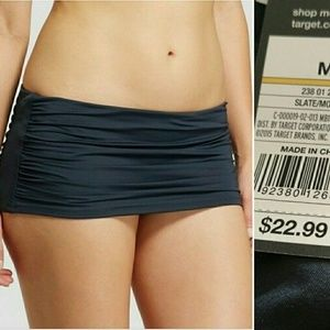 🆕Mossimo M, Shirred Swim Skirt